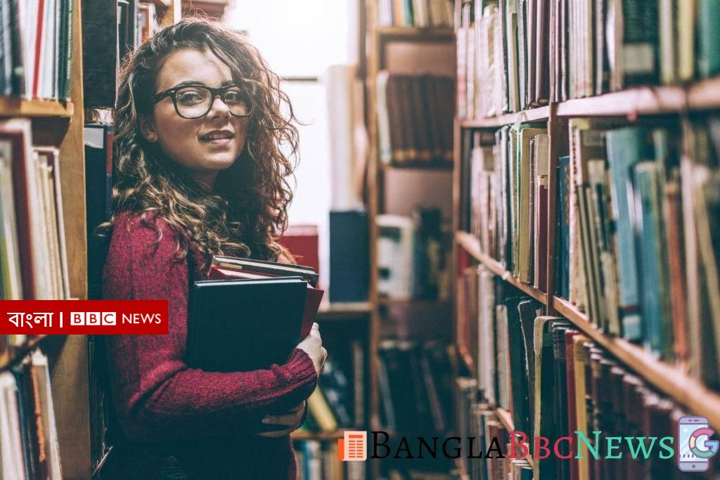 Young woman in library-bangla bbc news